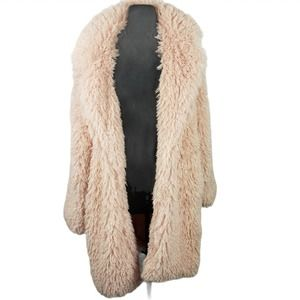 Wild Fable Coat Faux Fur Glamor Pink